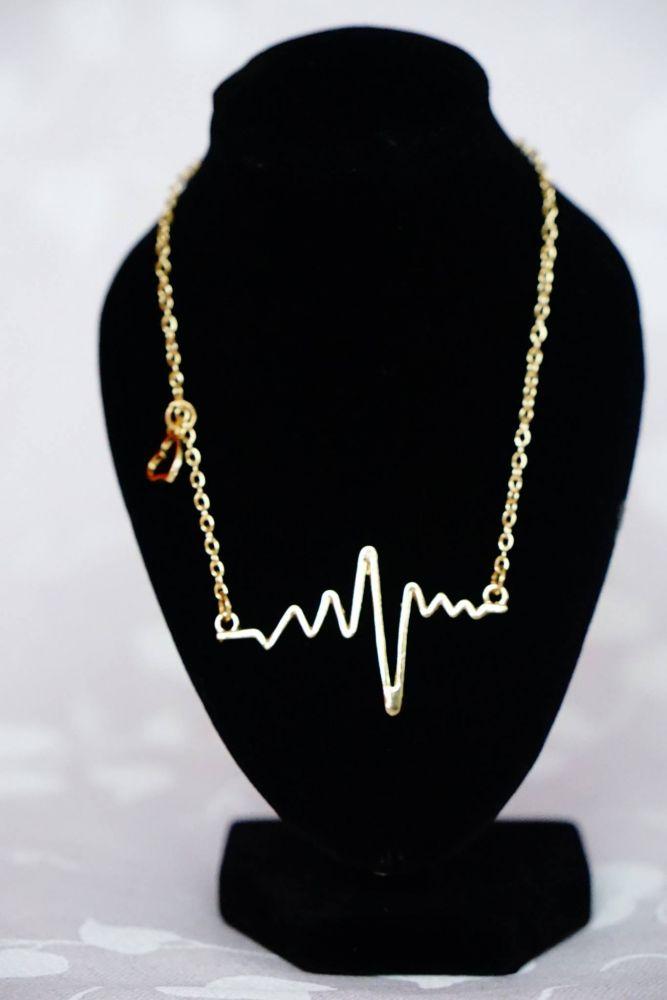 Zlatý PULS náhrdelník