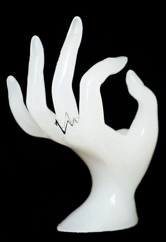 Stříbrný PULS prsten